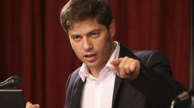 zzzznacp2 NOTICIAS ARGENTINAS,Baires abril 10:El Ministro de Economia Axel Kicillof esta mañana anunciando acuerdos de precios de productos de consumo domestico. Foto: HUGO VILLALOBOS zzzz