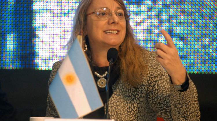 La ministra de Desarrollo Social de la Nación, Alicia Kirchner, durante la segunda jornada en el Foro de Ministros de Desarrollo Social de América Latina que se realiza en la localidad bonaerense de Chapadmalal.