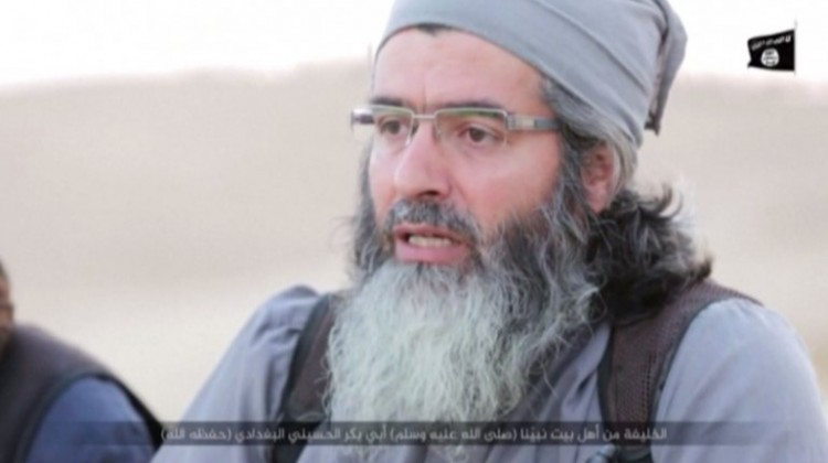 Insurgente extremista del grupo ISIS.