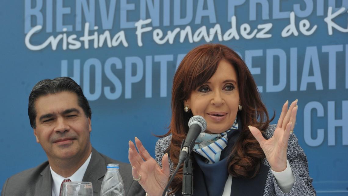 La presidente, durante la inauguración del hospital en mayo de este año.
