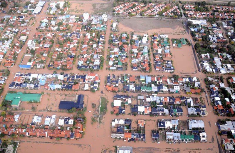 Inundación en Neuquén Capital, en 2014.