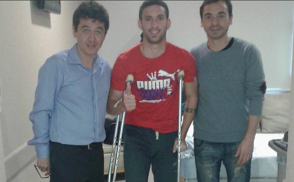 Foto de Ham publicada en Instagram, confirmando el comienzo de la rehabilitación.