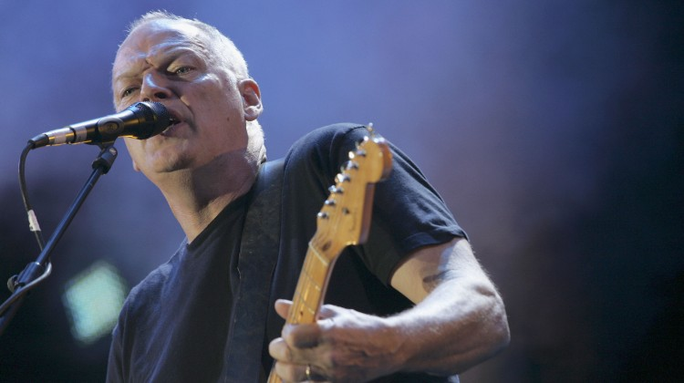 "LONDON - JULY 02:  Dave Gilmour of Pink Floyd performs on stage at ""Live 8 London"" in Hyde Park on July 2, 2005 in London, England.  The free concert is one of ten simultaneous international gigs including Philadelphia, Berlin, Rome, Paris, Barrie, Tokyo, Cornwall, Moscow and Johannesburg.  The concerts precede the G8 summit (July 6-8) to raising awareness for MAKEpovertyHISTORY.  (Photo by Jo Hale/Getty Images)"
