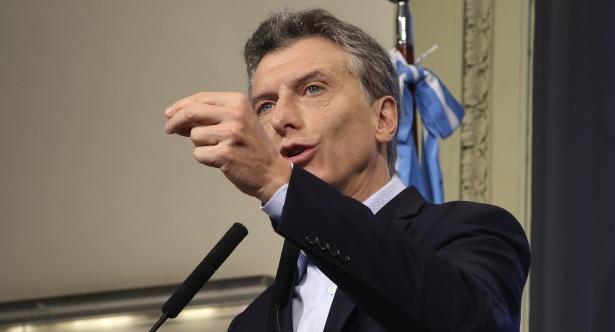 zzzznacp2 NOTICIAS ARGENTINAS,Baires mayo 3: El Presidente Mauricio Macri en conferencia de prensa esta mañana en Casa de Gobierno. Foto: HUGO VILLALOBOS zzzz