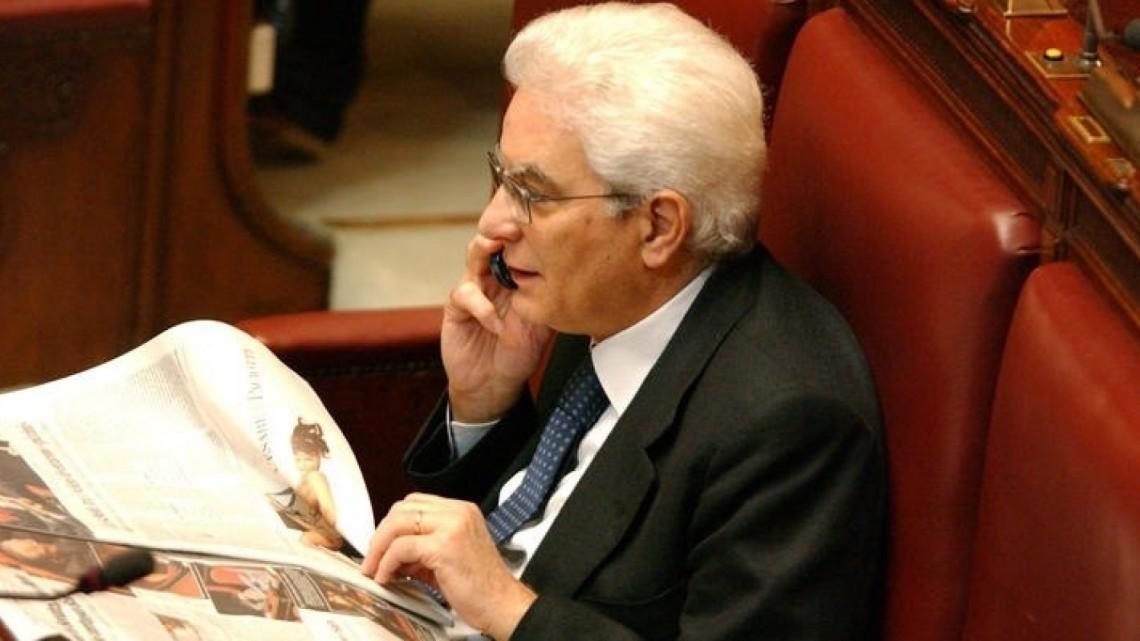 29/04/06 MONTECITORIO ELEZIONE DEL PRESIDENTE DELLA CAMERA, NELLA FOTO SERGIO MATTARELLA ¸