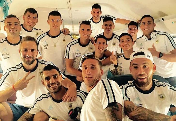 Argentina en el avión, camino a Seattle.