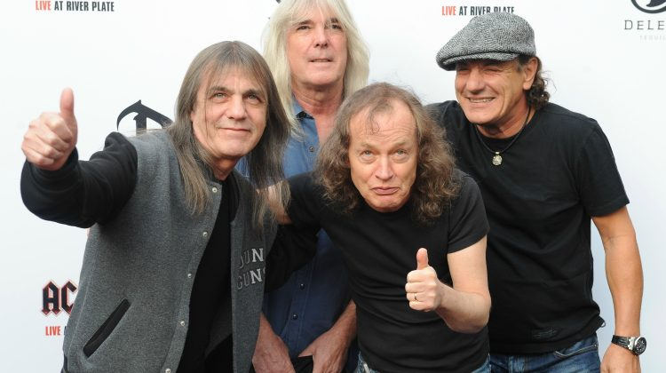 Malcolm Young, Cliff Williams, Angus Young and Brian Johnson of AC/DC Premiere of 'AC/DC - Live at River Plate' at Hammersmith Apollo - Arrivals London, England - 06.05.11  Where: London, United Kingdom When: 06 May 2011 Credit: WENN