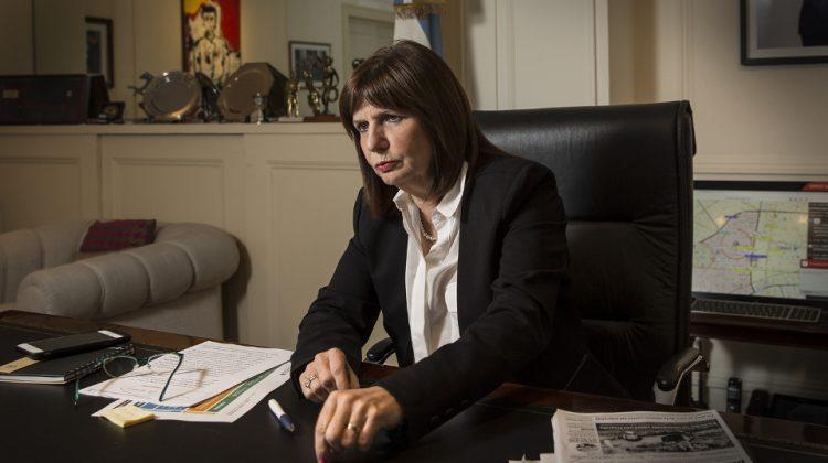 POLITICA. Entrevista a la ministra de Seguridad Patricia Bullrich en su despacho.  21/06/16 FOTO FERNANDO MASSOBR