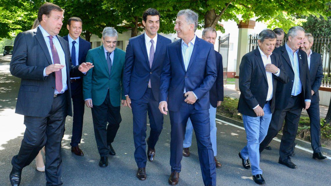Buenos Aires 15-11-2016... Presidente Mauricio Macri con gobernadores en Olivos