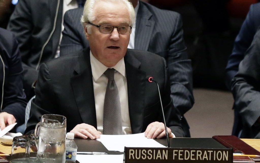 Vitali Churkin, representante ruso en la ONU.