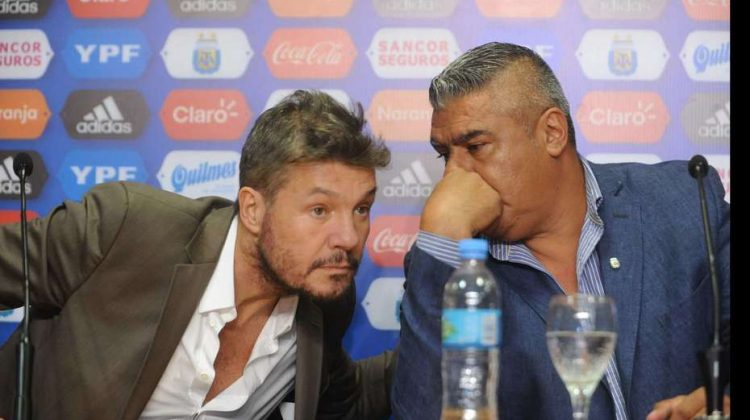 Conferencia de prensa de Claudio Tapia Marcelo Tinelli y Edgardo Bauza fotos Emmanuel Fernandez