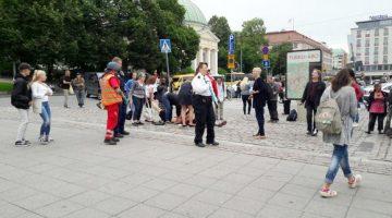 La policía reduce al atacante en Finlandia