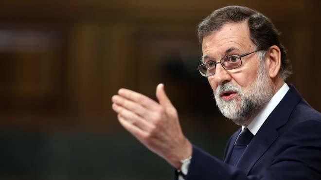 MADRID 13/06/2017 POLITICA MOCION DE CENSURA . en la imagen el Pte del Gobierno Mariano Rajoy da la replica a Irene Montero en la  mocion de censura que se celebra hoy en el Congreso de los Diputados . Imagen JUAN MANUEL PRATS