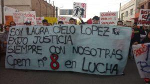 El alto valle marcha bajo el lema «Soy Cielo López y exijo justicia»