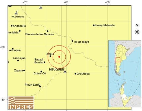 Vaca Muerta sacudida por un sismo de magnitud 3.7