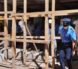 El municipio aseguró que la obra que se desmoronó estaba autorizada