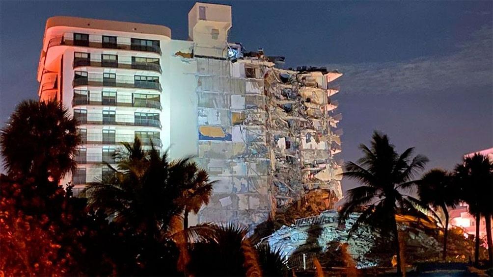 Miami: Derrumbe dejó un muerto, varios heridos y personas desaparecidas